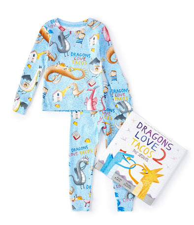 Books To Bed Dragon Loves Tacos Pajama Set W/Book 15DLT1