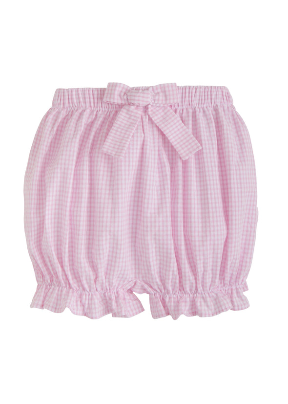 Little English Bow Bloomer Light Pink Gingham S3GP10lp