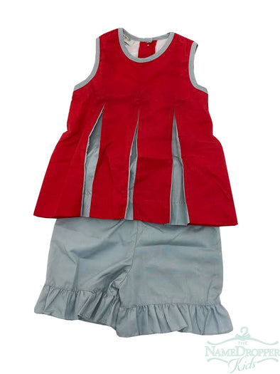 Magnolia Pleated Spirit Set Crimson & Grey