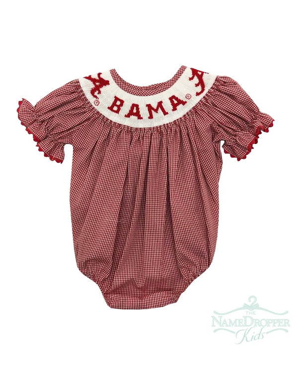 Vive la Fete Alabama Girls Smocked Bubble NALA07SG1S