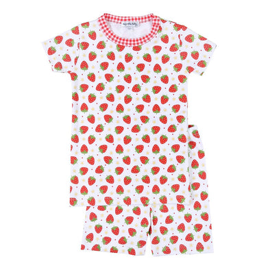 Magnolia Baby Fresh Strawberries Short Pajama 936-SP-RD