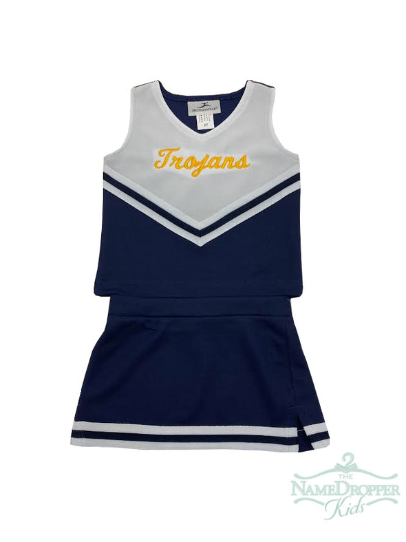 Motion Wear Cheer 2pc. Navy W/Trojans 9000/9106/9302