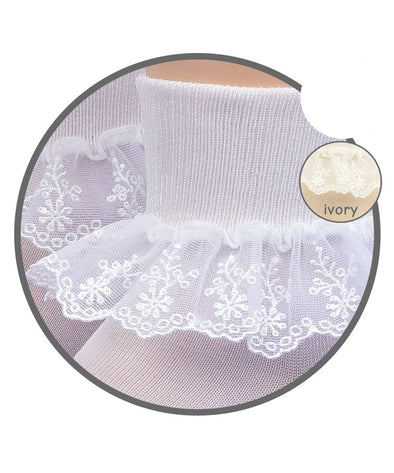 Jefferies Sock w/ Snow Queen Lace 2124