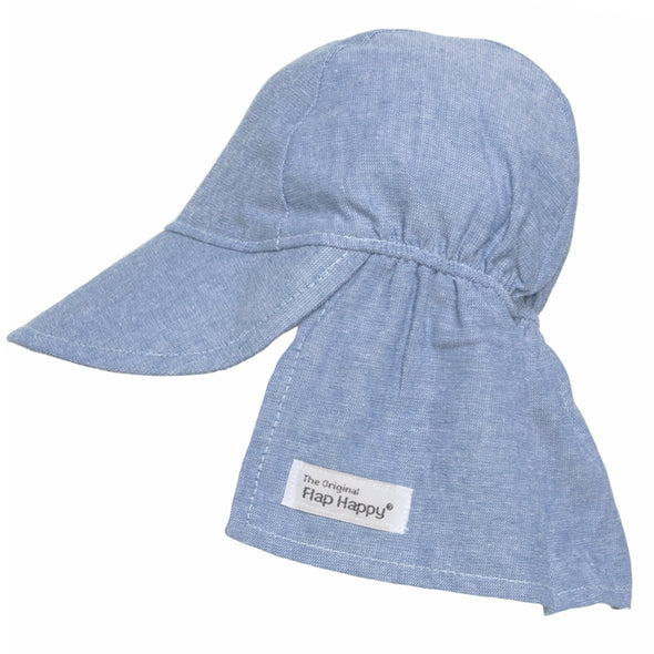 Flap Happy Flap Hat W/O Ties Chambray lfhb