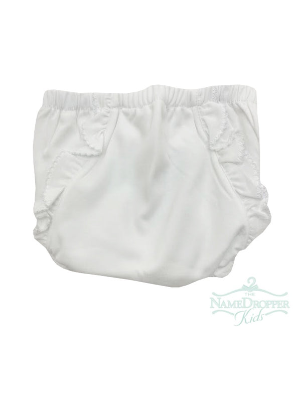 Baby Bliss Monogram Me Pima Diaper Cover White/White WMD-100