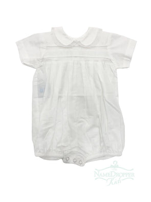 Lullaby Set Boy Peter Pan Collar w/Lace Trim White Bubble V-891EA