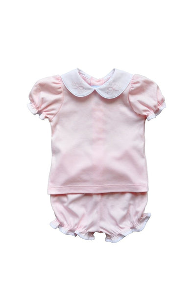 Auraluz Pink Double Knit top/bloomer Set 6820GPKBOL