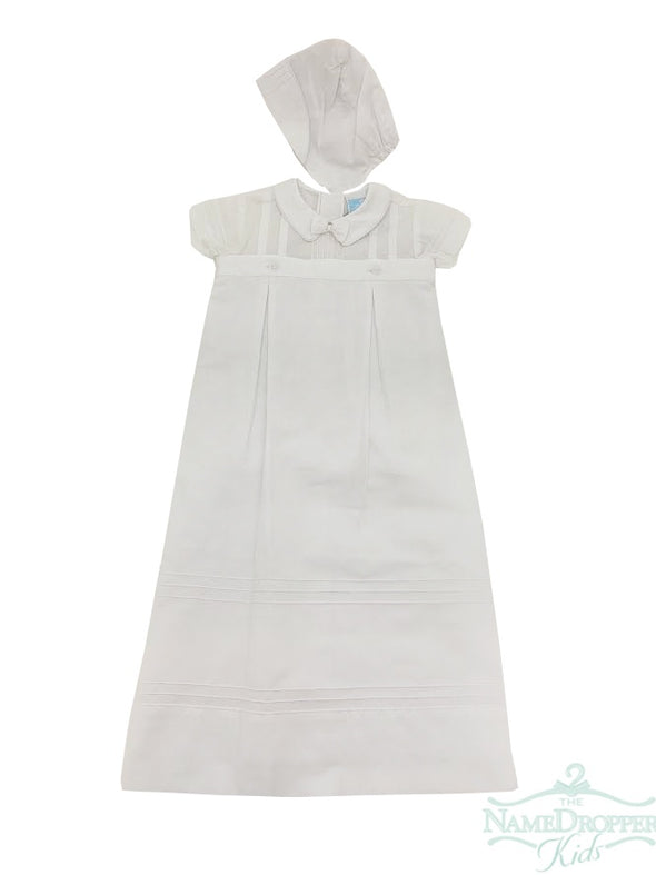 Will beth Boys Christening Gown White 07016