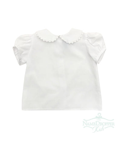 Funtasia Too Short Sleeve Blouse White Ric Rac 40010