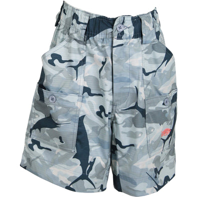 AFTCO Boys Camo Fishing Shorts