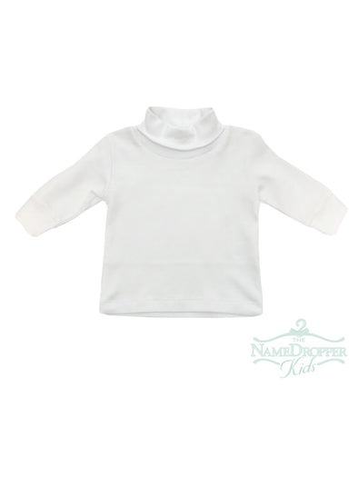 Luigi Interlock Turtleneck Plain #1 White ITS001-01