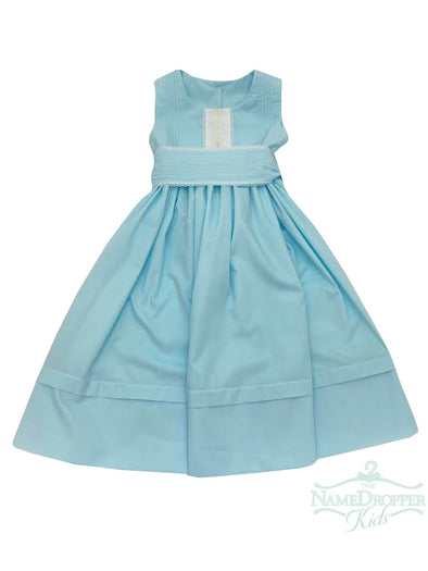 La Jenns Aqua Dress With White Lace M519