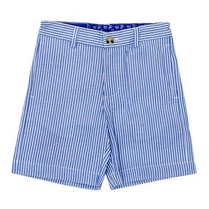 J.Bailey Blue & White Striped Seersucker Shorts