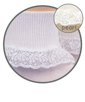 Jefferies  Sock w/ Chantilly Lace 2107