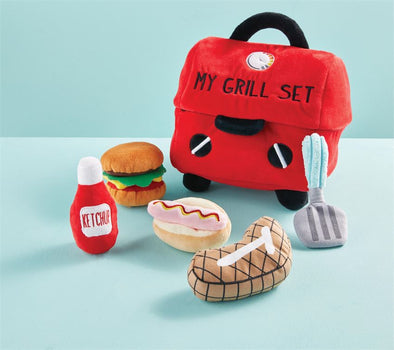 Mud Pie plush grill set