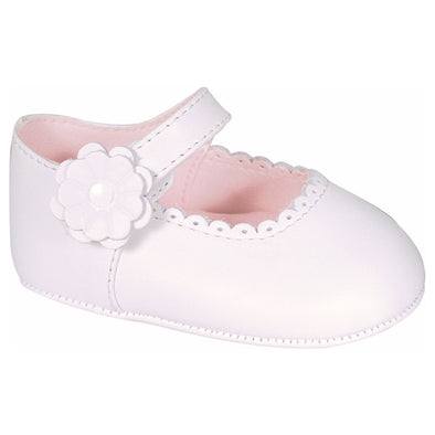 Baby Deer Emma Infant White Leather Mary Jane Flats 4092
