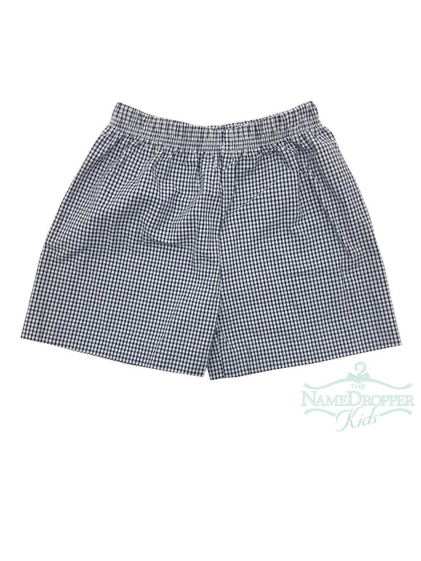 Name Dropper PL Boy Short Seersucker Mini Gingham Navy