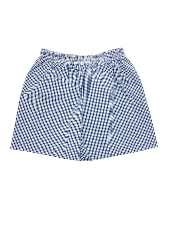 Name Dropper Pl Royal Mini Gingham Shorts SEWBBANA