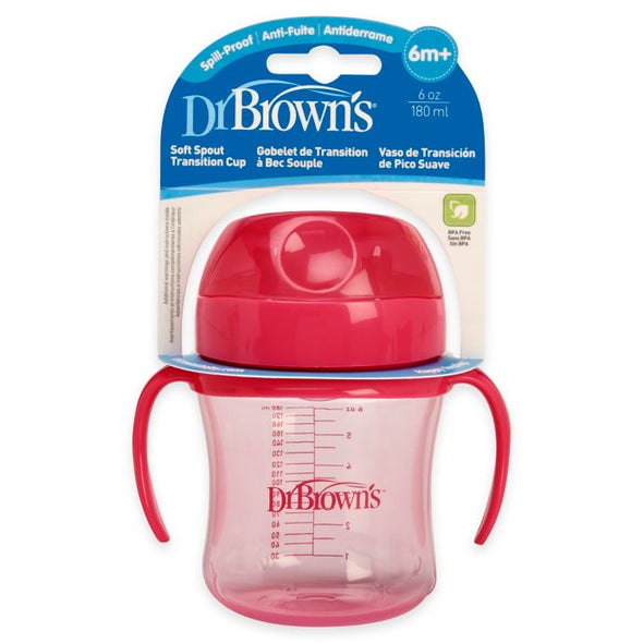 Dr. Brown's soft-spout transition cup pink