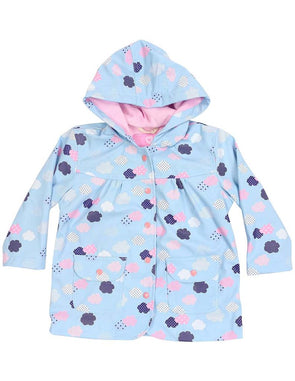 Korango Rain Coat Cloud Print A1342B