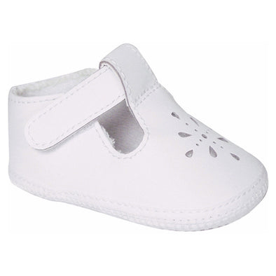 Baby Deer Kennedy Infant White Leather T-Straps 1820