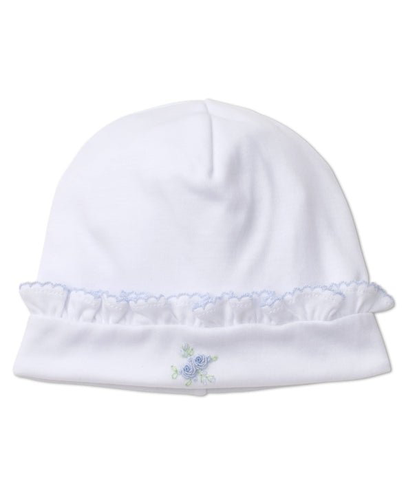 Kissy Kissy Winter Rosebuds Hat W/Hand Embroidery WH/BL KG503060N-K191