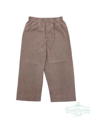 Name Dropper PL Basic Boy Pants Mini Gingham ZBF19-PANBBANA