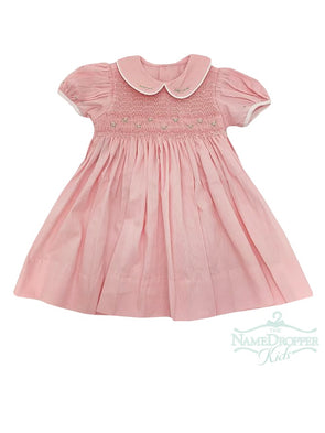 Lullaby Set Kelli Smocked Dress PinkV-KelliDR.SO