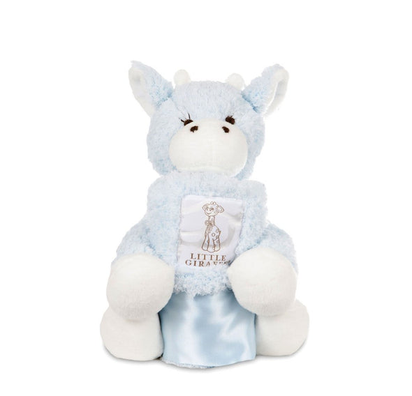 Little Giraffe Blue Mini G & Blanky