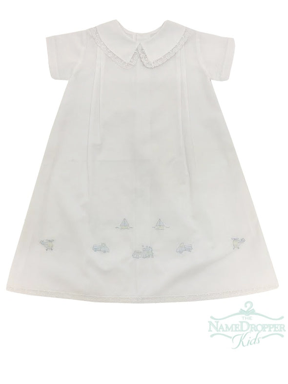 Auraluz Long Daygown White/Blue Transport 3020BWBTASS