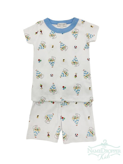 Magnolia Baby Vintage Sailboat Short Pajamas 837-SP-LB