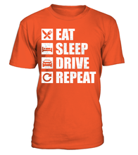 T-shirt Eat Sleep Drive Repeat
