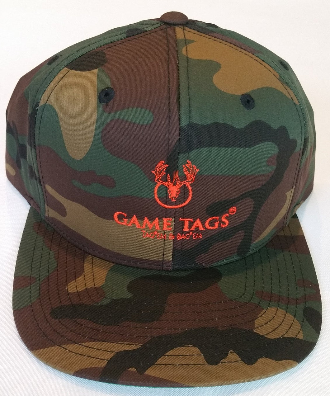 Game Tags™ Embroidered Logo Camo Cap