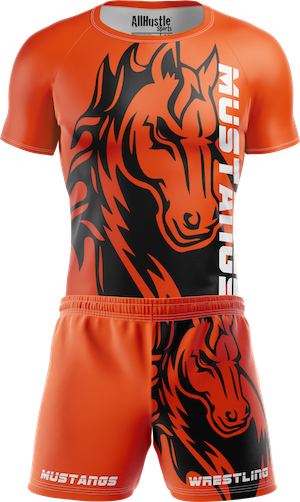 Custom Sublimated Team Wrestling Uniforms