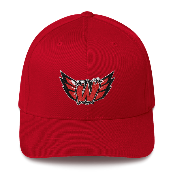 Lakota West W Wings Flex Fit Red Hat