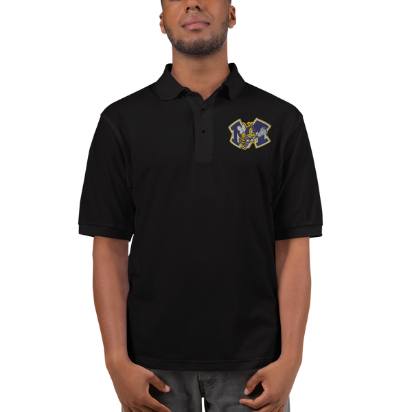 Monroe Lacrosse Embroidered Logo Polo