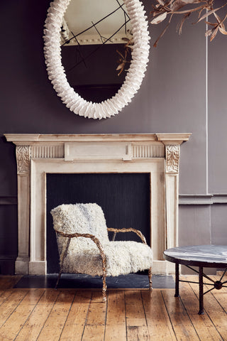Cox London's new work (incl Siren Chair, Rig Table, Fossil Mirror) in the Crafts Council Collect VIP lounge curated by Rachel Chudley. AlunCallenderPhoto_