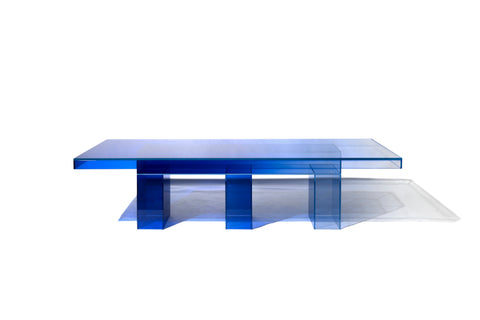 Null blue Dining Table by Studio Buzao (2019), Gallery ALL and Studio Buzao Design Miami
