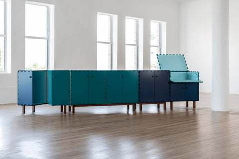 Tangara green console cabinet by Luis Pons (2019), courtesy of Luis Pons Design Miami