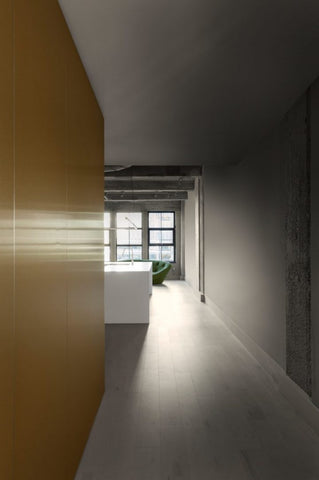 Jean Verville architecture, interior design, luxury, brass, concrete