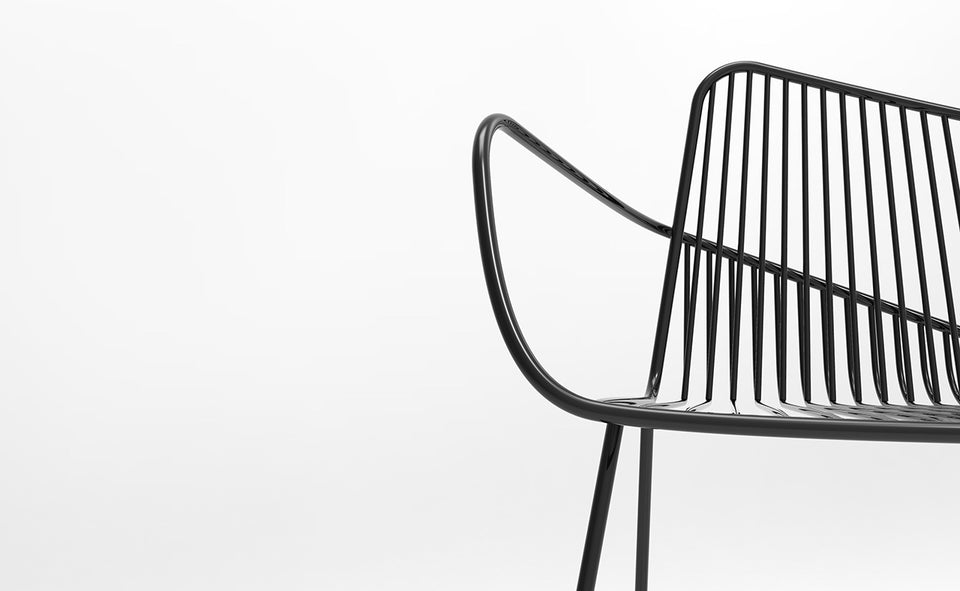 Arno Atmosphere Wire frame chair in black