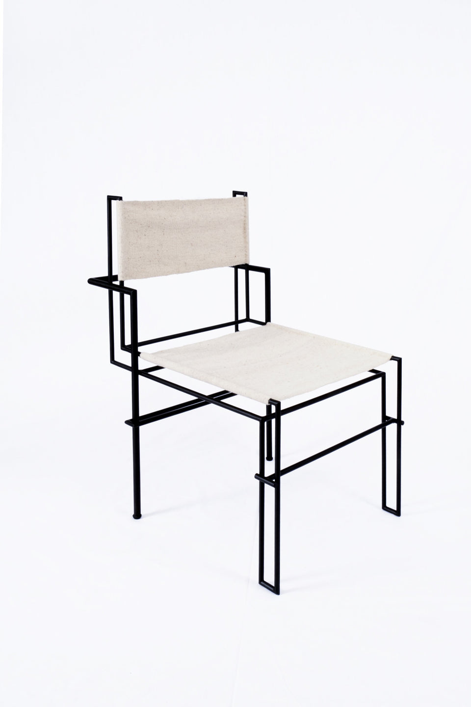 Design Disrupters Casbah black metal chair frame and white wool