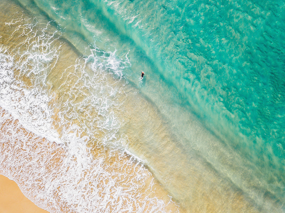 Coast Call, An ariel Photgraph of an Australia beach. By Jess Lowis.