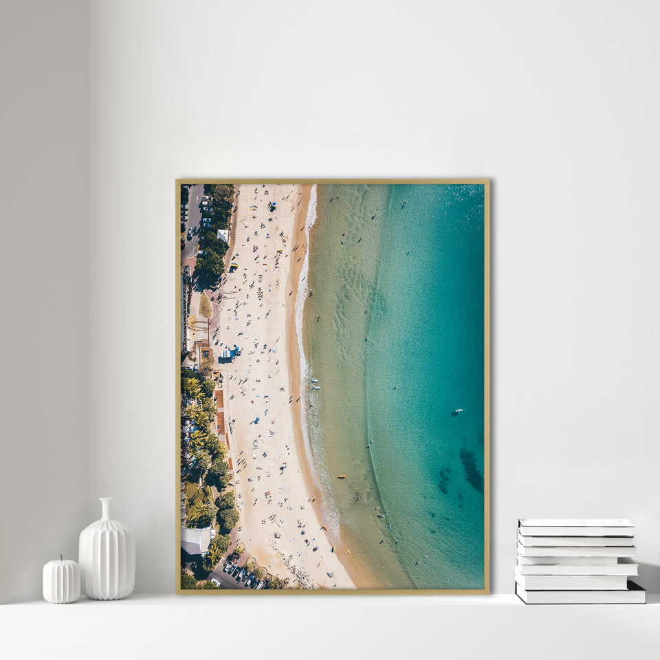 Aerial Ocean drone coastal Photography print of beach and surf by Jess Lowis