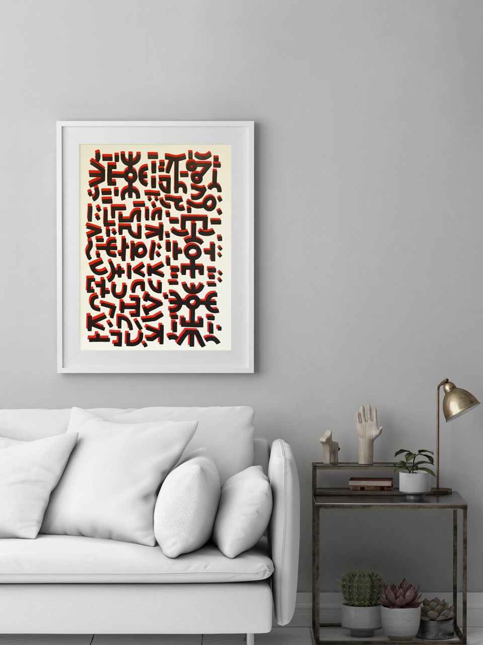 Universal Love I Black & Red Print by Raul 33