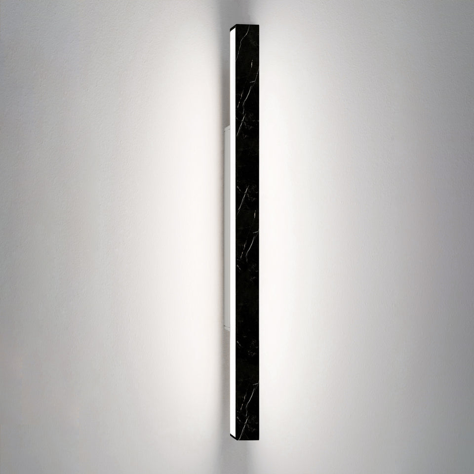 Dalia by Ledevò - A Black Marble LED Strip Wall Light by Anna Paganelli