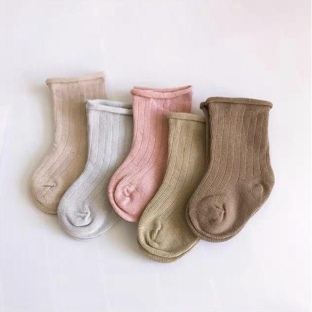 Ribbed Socks Pastel - Pack of 5 Tiny Trove