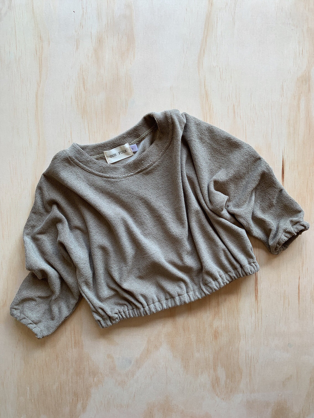 Towelling Pullover Moss- Our Folk