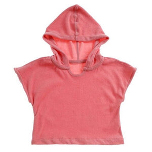 Hooded Terry Towel Coral- Luca the Label