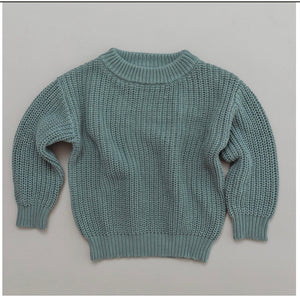 Halo and Horns - CHUNKY KNIT SWEATER - ORGANIC COTTON - MILLEU